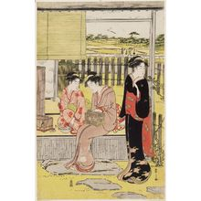 Hosoda Eishi: Teahouse near Fields - Museum of Fine Arts