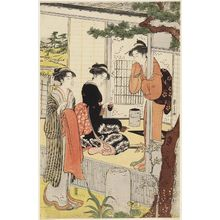 Hosoda Eishi: Teahouse near Fields - Museum of Fine Arts