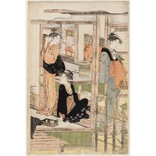 Hosoda Eishi: Women on the Veranda and in the Garden - Museum of Fine Arts