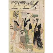 細田栄之: Women Resting in the Votive Picture Hall at Asakusa - ボストン美術館