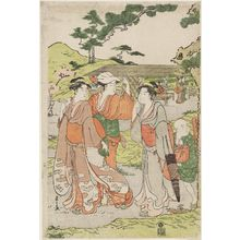 Hosoda Eishi: Viewing Cherry Blossoms at Asuka Hill - Museum of Fine Arts