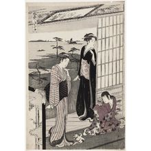 Hosoda Eishi: Suma, from the series Genji in Fashionable Modern Guise (Fûryû yatsushi Genji) - Museum of Fine Arts