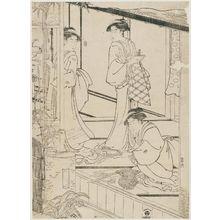 Hosoda Eishi: Preparing New Year Decorations - Museum of Fine Arts
