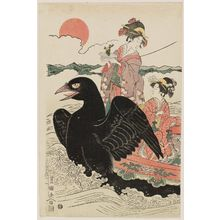 Utagawa Toyokuni I: Women in a Crow Boat at New Year Sunrise - Museum of Fine Arts