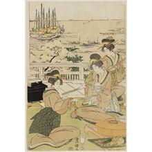 歌川豊国: Banquet at Shinagawa - ボストン美術館