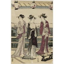 Utagawa Toyokuni I: The Four Seasons in the South: A Summer Scene (Minami shiki natsu [no] kei) - Museum of Fine Arts