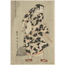 Utagawa Toyokuni I: Tachibanaya (Actor Ichikawa Yaozô III as Fuwa Banzaemon), from the series portraits of Actors on Stage (Yakusha butai no sugata-e) - Museum of Fine Arts