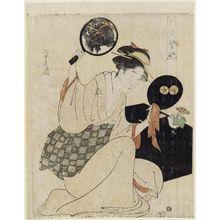 Hosoda Eishi: Takashima, from the series Flowerlike Faces of Beauties (Bijin kagan shû) - Museum of Fine Arts