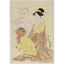 Hosoda Eishi: Hotei, from the series Comparisons to the Treasures of the Gods of Good Fortune (Fukujin takara awase) - Museum of Fine Arts