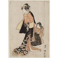 Utagawa Toyokuni I: Actor and Boy - Museum of Fine Arts