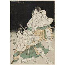 Utagawa Toyokuni I: Actors Bandô Mitsugorô II and Ôtani Tomoemon II - Museum of Fine Arts