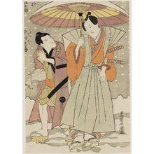 Utagawa Toyokuni I: Actors Nakamura Gennosuke and Nakamura Tôzô - Museum of Fine Arts