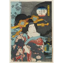 Utagawa Kunisada II: Actor Bandô Shûka I as Jin'yo's Concubine Tamazusa, from the series The Book of the Eight Dog Heroes (Hakkenden inu no sôshi no uchi) - Museum of Fine Arts