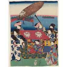 Ochiai Yoshiiku: Procession of a Princess - Museum of Fine Arts