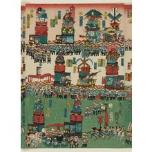 Utagawa Kunisato: Sannô Festival Procession (Sannô-sama gosairei zu), No. 5 - ボストン美術館
