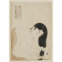 Kitagawa Utamaro: Combing the Hair, from the series Ten Types in the Physiognomic Study of Women (Fujin sôgaku juttai) - Museum of Fine Arts