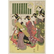 Utagawa Toyokuni I: The Eleventh Month: Kaomise gakuya, from the series Actors in the Twelve Months (Yakusha jûni tsuki) - Museum of Fine Arts