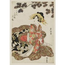 歌川豊国: Takao of the Miuraya, from the series Three Beauties (San bijin) - ボストン美術館