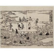 奥村政信: Record of Famous Places in Edo: Picture of the Komagata-dô (Edo meisho ki Komagata-dô zu) - ボストン美術館