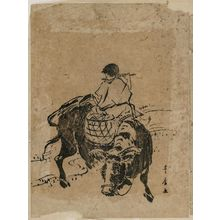 Utagawa Toyohiro: Herdboy Riding Ox - Museum of Fine Arts