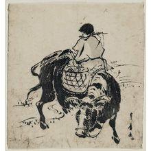 Utagawa Toyohiro: Herdboy Riding Ox - Museum of Fine Arts