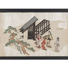 Hishikawa Moronobu: Viewing Cherry Blossoms in Ueno (Ueno hanami no tei), Sheet 2 - Museum of Fine Arts