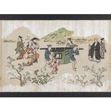 菱川師宣: Viewing Cherry Blossoms in Ueno (Ueno hanami no tei), Sheet 8 - ボストン美術館