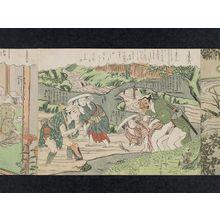 鈴木春信: No. 6 from the erotic series The Amorous Adventures of Mane'emon (Fûryû enshoku Mane'emon) - ボストン美術館