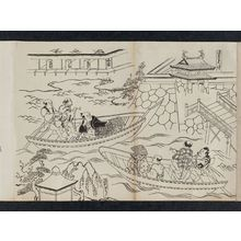 奥村政信: Asakusa Mitsuke, from an untitled series of a visit to the Yoshiwara (known as Series L) - ボストン美術館