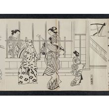 奥村政信: Yoshiwara Nichôme, from an untitled series of a visit to the Yoshiwara (known as Series L) - ボストン美術館