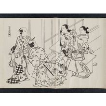 奥村政信: Shinmachi in the Yoshiwara (Yoshiwara Shinmachi), from an untitled series of a visit to the Yoshiwara (known as Series L) - ボストン美術館