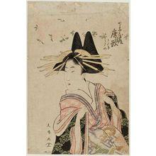 Utagawa Hisanobu: Karauta of the Chôjiya, kamuro Utagi and Utano - ボストン美術館