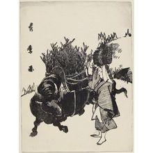Kitagawa Hidemaro: Woman of Ohara with Ox - Museum of Fine Arts