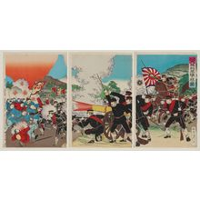 Watanabe Nobukazu: Illustration of Japan's Great Victory Defeating Pyongyang (Nihon dai shôri Heijô o yaburu zu) - Museum of Fine Arts