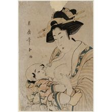 Kitagawa Tsukimaro: Mother Nursing Child - Museum of Fine Arts