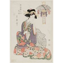 喜多川月麿: Snow, from the series Sketches of Snow, Moon, and Flowers (Ryakuga setsugekka) - ボストン美術館