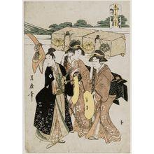 喜多川月麿: Azuma kudari yatsushi no Fuji - ボストン美術館