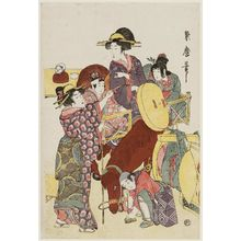 Kitagawa Tsukimaro: Travelers Pausing for a Smoke - Museum of Fine Arts