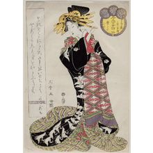 Kitagawa Shikimaro: Karauta of the Chôjiya, kamuro Utagi and Tsumaki, from the series Female Poetic Immortals in the Modern Style, a Set of Thirty-six (Imayô onna kasen, sanjûrokuban tsuzuki) - Museum of Fine Arts