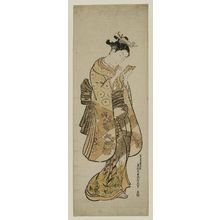 Okumura Masanobu: Young Woman with a Hand Mirror - Museum of Fine Arts