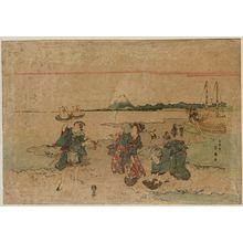 Katsukawa Shunko: Gathering Shellfish at Low Tide - Museum of Fine Arts