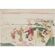 Katsukawa Shunko: Viewing Cherry Blossoms at Goten-yama - Museum of Fine Arts