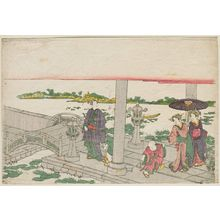 Katsukawa Shunko: Visiting Mimeguri Inari Shrine - Museum of Fine Arts