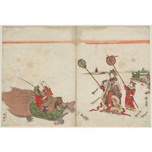 勝川春好: Urashima Tarô and the Dragon Princess - ボストン美術館