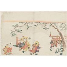 Katsukawa Shunko: Chinese Children Playing in Snow - Museum of Fine Arts