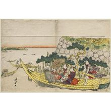 Katsukawa Shunko: Passengers on a Boat Excursion - Museum of Fine Arts