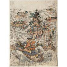 勝川春亭: Yashima Dan-no-ura kassen - ボストン美術館