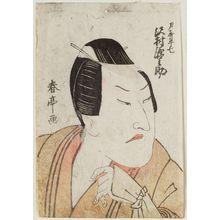 勝川春亭: Actor Sawamura Gennosuke - ボストン美術館