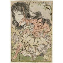 勝川春亭: Watanabe no Tsuna - ボストン美術館