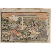 勝川春亭: Act III (Sandanme no zu), from the series Perspective Pictures of the Storehouse of Loyal Retainers (Uki-e Chûshingura) - ボストン美術館
